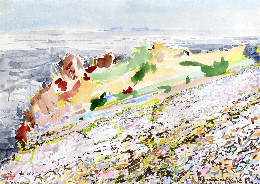 Вид на о.Геральда с вершины м.Уэринг,о.Врангеля (б., а.,21*30,1987-2009)