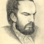 Prydatko-Dolin portrait by N.Sakhnov,Wrangel Isl,pencil