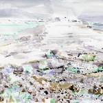 Blossom Cape, Wrangel Isl, watercolor