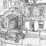 Kyiv, Shevchenko, gel-pen, Киев, гелиевая ручка