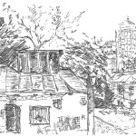 Kyiv, Yaroslav Mydry, gel-pen, Киев, гелиевая ручка