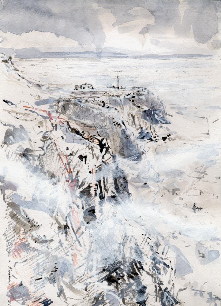 Kolyuchin Isl, etude (watercolor, 21*30 cm, 2010)