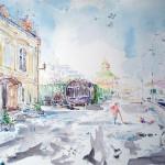 watercolor,Podil,Kyiv