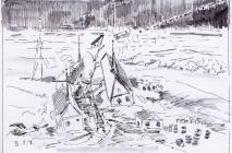 Wrangel isl,poem,ink,pen,Врангеля о-в,перо