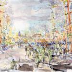 Ukraine,revolution,watercolor,акварель